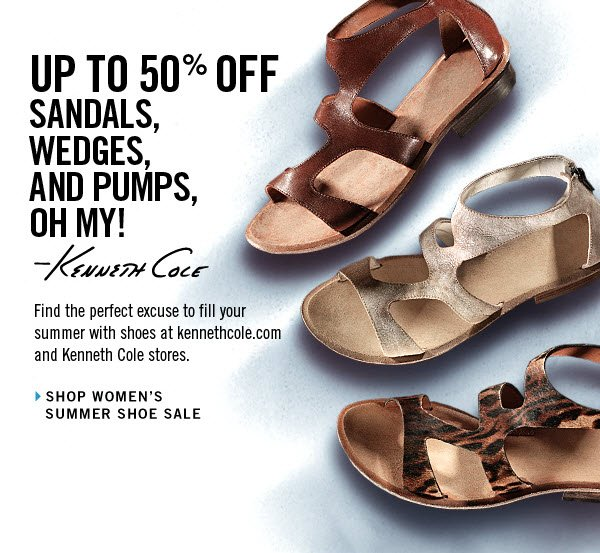 UP TO 50% OFF SANDALS, WEDGES, AND PUMPS, OH MY! › SHOP WOMEN'S SUMMER SHOE SALE