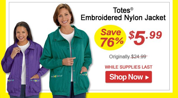 Totes Coat - Save 76% - Now Only $5.99 Limited Time Offer