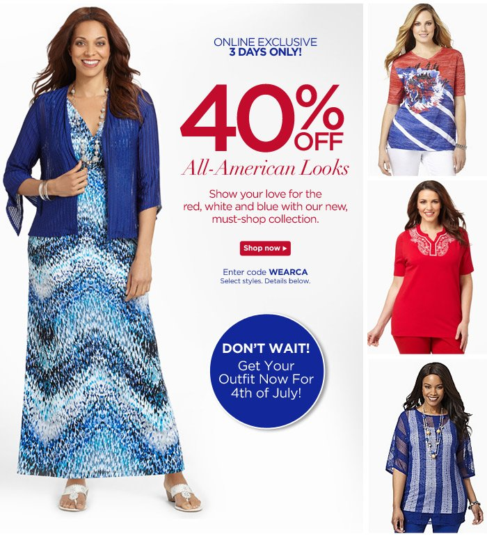 40% Off All-American Looks