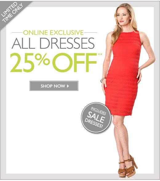 All Dresses: 25% Off