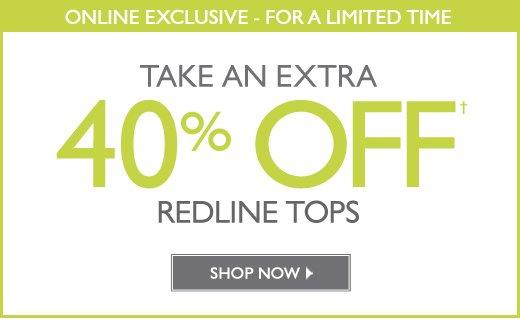 40% Off Redline Tops