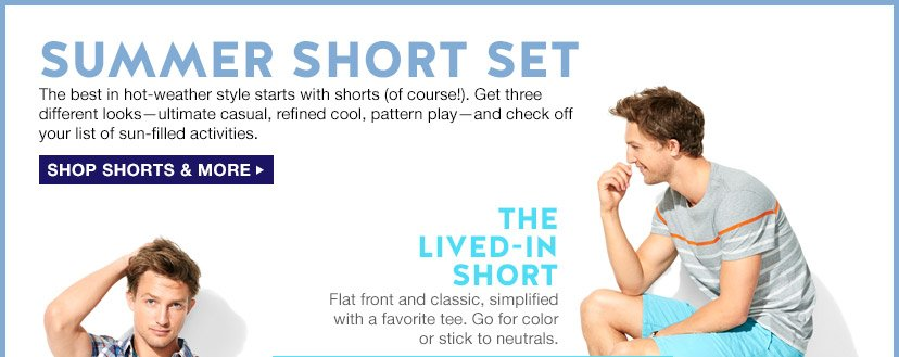 SUMMER SHORT SET | SHOP SHORTS & MORE | THE LIVED-IN SHORT