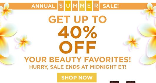 Annual Summer Sale. Get Up To 40% OFF