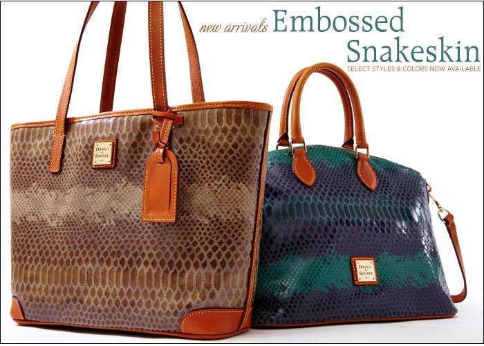 new arrivales Embossed Snakeskin select styles & colors now available