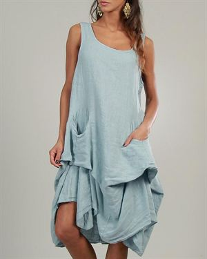 Lin Nature Ruffle 100% Linen Dress Made in Italy