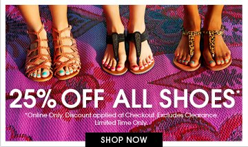 Shop 25% Off All Shoes