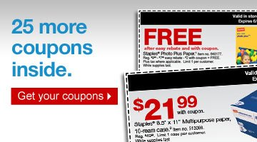 25 more  coupons inside. Get your coupons.