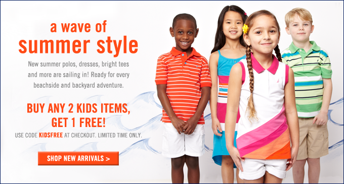 Buy any 2 Kids items, get 1 free! Limited time only.