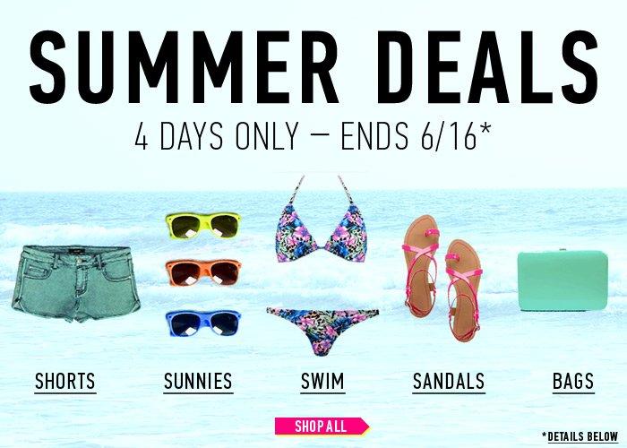 Summer Deals! 4 Days Only - Shop Now