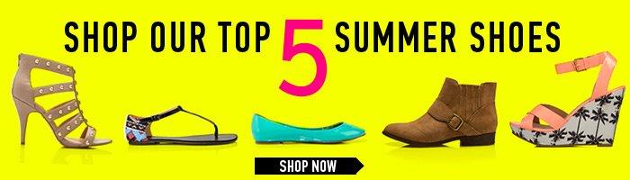 Shop Our Top 5 Summer Shoes! - Shop Now