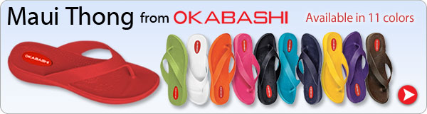 Maui Thong from Okabashi - Available in 11 colors - Shop Now >