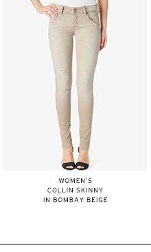 Women's Collin Skinny in Bombay Beige