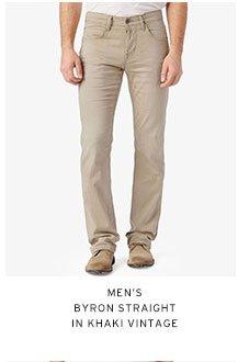 Men's Bryon Straight in Khaki Vintage