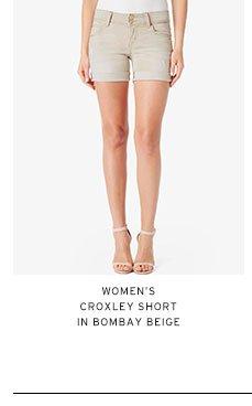 Women's Croxley Short in Bombay Beige