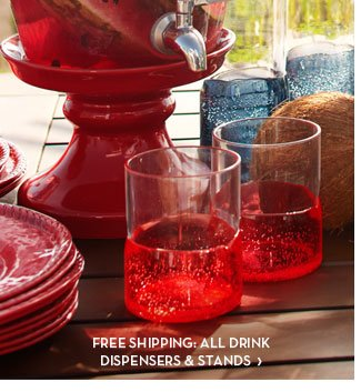 FREE SHIPPING: ALL DRINK DISPENSERS & STANDS