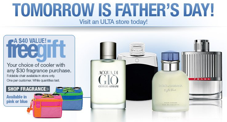 FREE Coooler with any $30 fragrance purchase.