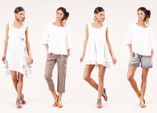 100% Linen Summer Apparel for Her, Made in Italy
