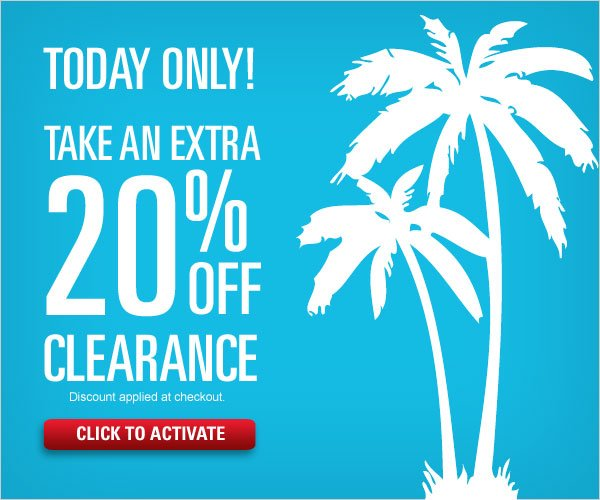 Get an extra 20% off Clearance