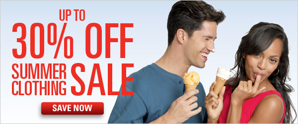 Up to 30% off Summer Clothing Sale