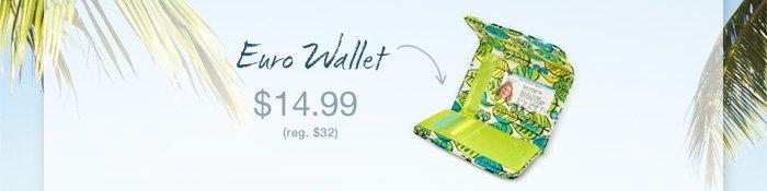 Euro Wallet - $14.99