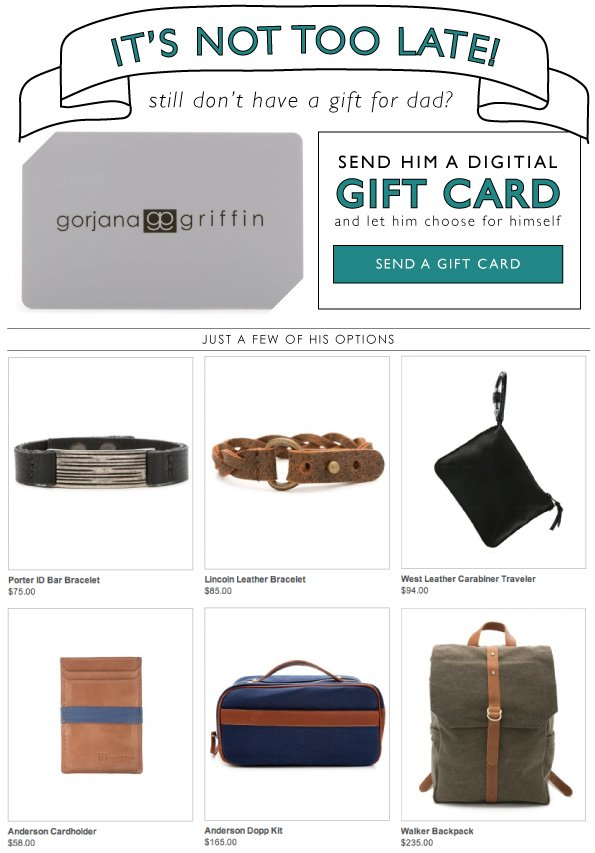 It's Not Too Late! | Send Him A Digital Gift Card