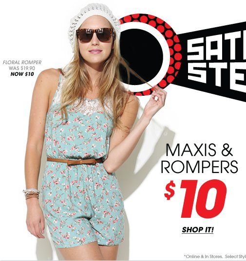 Shop $10 Maxis and Rompers