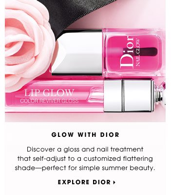 Glow with Dior. Discover a gloss and nail treatment that self-adjust to a customized flattering shade-perfect for simple summer beauty. Explore Dior.