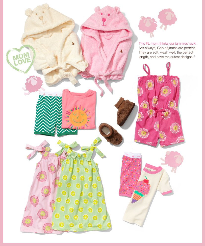This FL mom thinks our jammies rock: 'As always, Gap pajamas are perfect! They are soft, wash well, the perfect length, and have the cutest designs.'