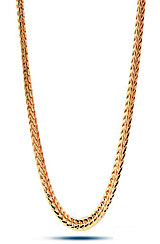 36 Inches 4mm Men's Gold Franco Chain