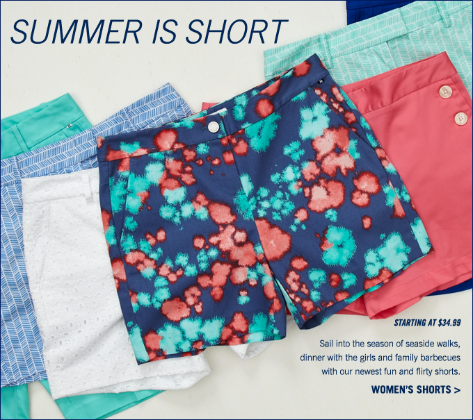 Women's shorts starting at $34.99. Shop now!
