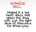 HYPNOSE DOLL | Draped in a red heart dress, Doll opens the show with just the right dose of innocence for lifted eyes.