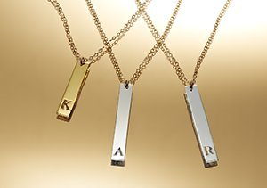 Personalized Initial Pendants by Miriam Merenfeld