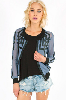 MESH OVERLAPPING LINES JACKET 29