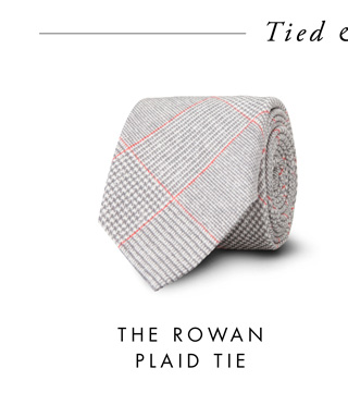 The Rowan Plaid Tie