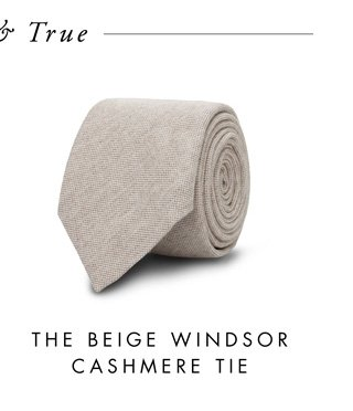 The Beige Windsor Cashmere Tie