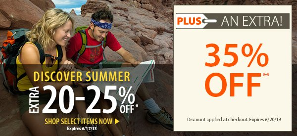 Discover Summer! An EXTRA 20-25% OFF select items!