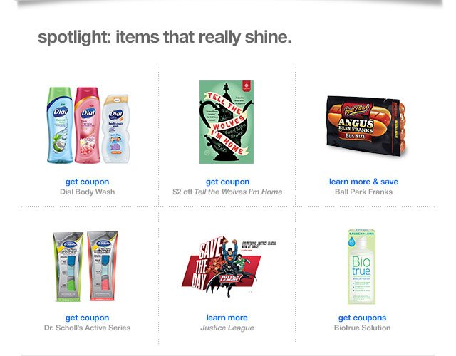 Spotlight: items that really shine.