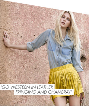 Go western in leather fringing