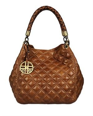 Silvio Tossi Solid Color Stitched Hobo Made In Europe