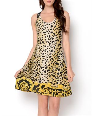 Just Love Lace Accented Printed Dress