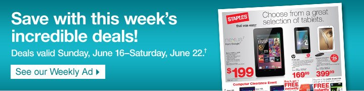 Save  with this weeks incredible deals! Deals valid Sunday, June  16–Saturday, June 22 †. See our Weekly Ad.