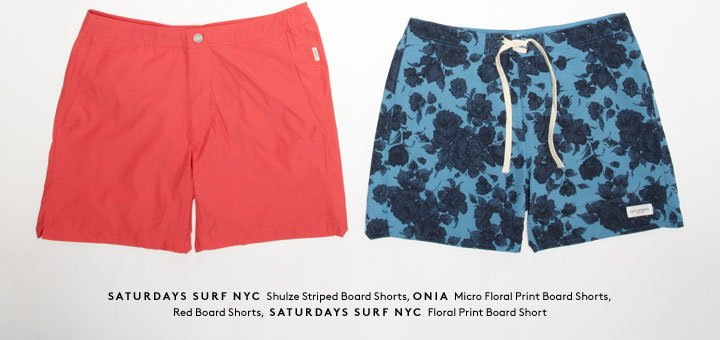 Ready to hit the beach? Shop Saturdays Surf, Onia, and more men's swimwear.