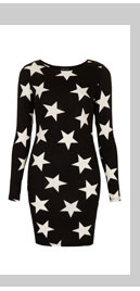Star Print Bodycon Dress