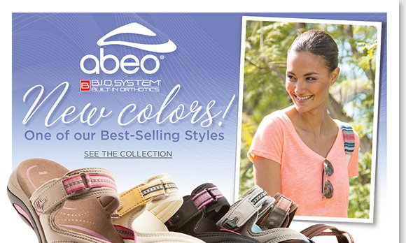 Shop the fun new 'Topanga' colors from ABEO B.I.O.system, your favorite walking sandal collection. Experience revolutionary custom 3-D fit comfort, and the benefits of increased stability, and reduced shock and stress on joints. Find the best selection online and in-stores now at The Walking Company.