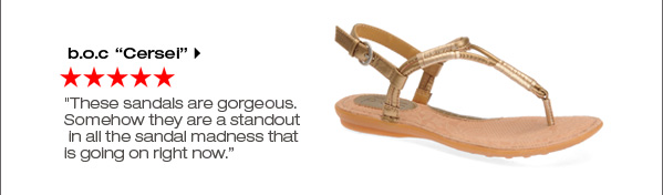 b.o.c 'Cersei' 'These sandals are gorgeous. Somehow they are a standout in all the sandal madness that is going on right now.' Shop now.