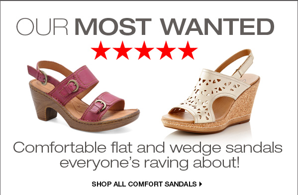 Our Most Wanted. Comfortable flat and wedge sandals everyone's raving about! Shop all sandals.