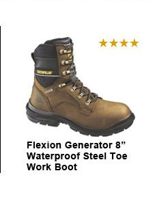 "Flexion Generator 8"" Waterproof Steel Toe Work Boot"