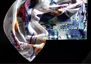 Pretty Pixels: Digital Print Scarves