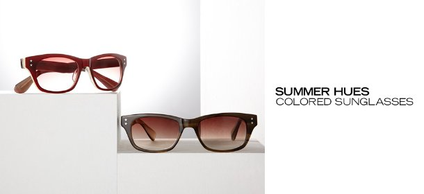 SUMMER HUES: COLORED SUNGLASSES, Event Ends June 19, 9:00 AM PT >