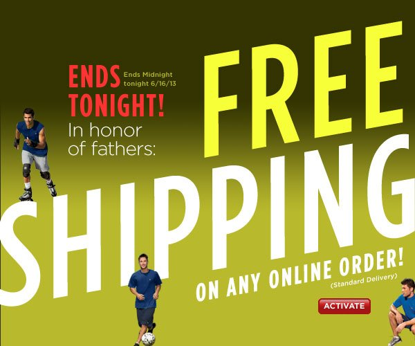 FREE Standard Shipping On Any Order